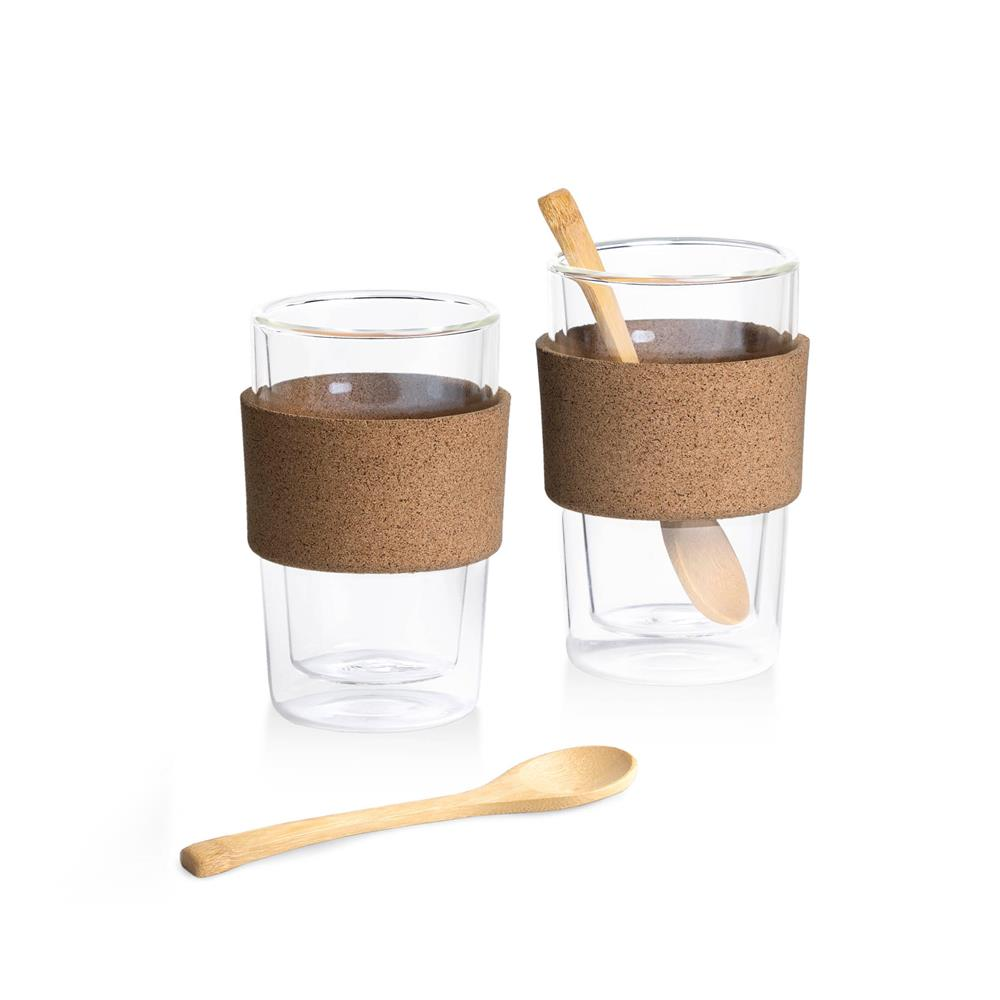 350ml Cafe Double Walled Glass Set