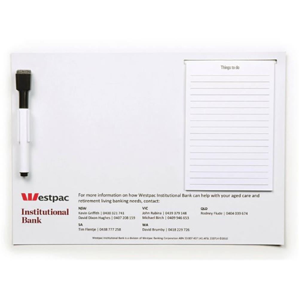 A4 Magnetic Whiteboard with Notepad