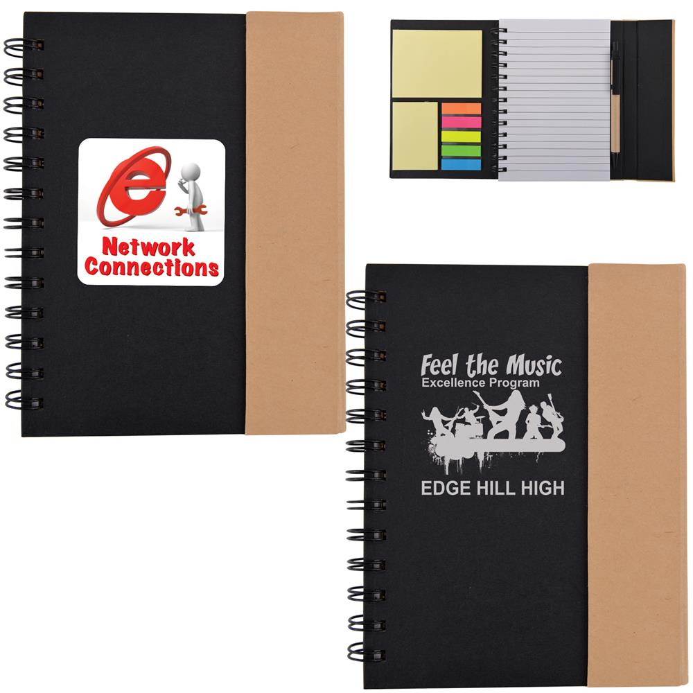 Trek Recyclable Notebook with Stuk Notes & a Pen
